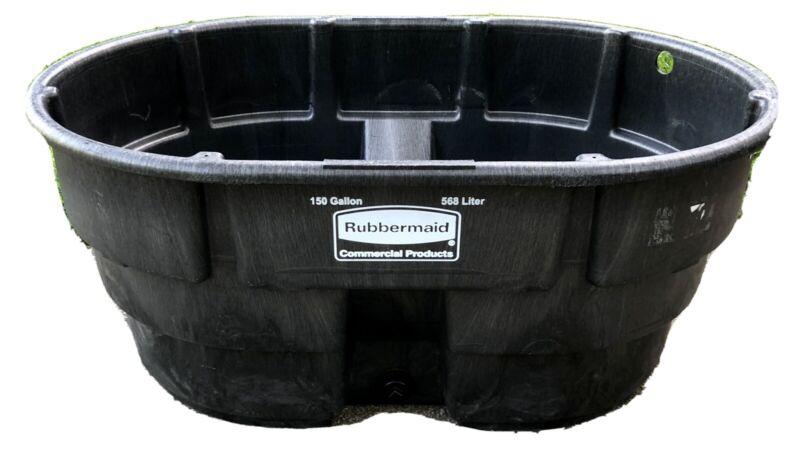 Rubbermaid Livestock Tank 150 Gal Watering Trough Tub Koi Goldfish Pond *Drilled