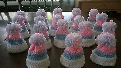 18 new hand crochet baby shower/gender reveal boy girl party favors gift - Bulk Baby Shower Favors