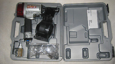 Brand new Heavy Duty Ultra RN-45 roofing nailer in carry case/oil safety glasses