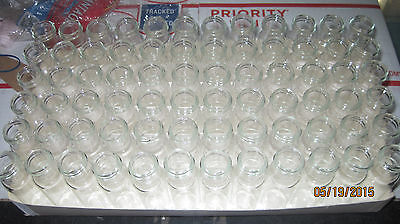 60 Pcs Small Empty Clear Bottles Glass Vials 3  X 34 Lot G460
