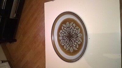 """Large vintage oval platter.Franciscan.14"""" by 11"""".VGC"""