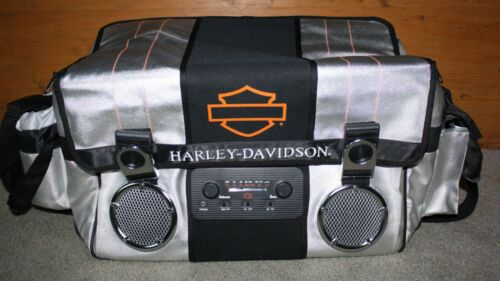 Harley Davidson Bar & Shield 32 qt. 18 Pack Cooler Bag AM/FM Radio 2003 NWOT