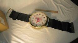 Vintage Disney Wall Clock Wrist Watch Style Coca Cola Advertising Pocket Decor