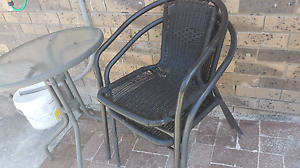 Small outdoor table and two chairs Mount Druitt Blacktown Area Preview