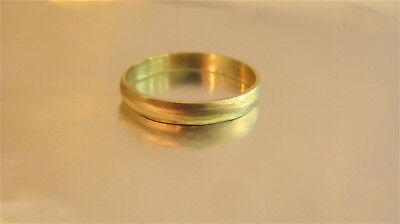 Boda Anillo 14k Oro Amarillo Alianza para Hombre/Mujer Unisex Alianza