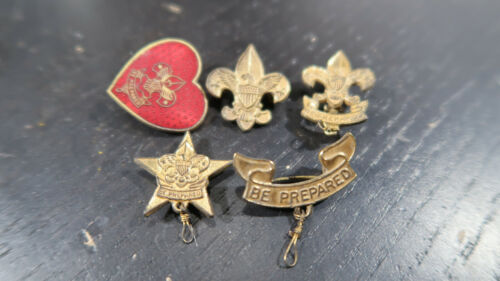 Early Boy Scouts Life Star Scout and other Pins