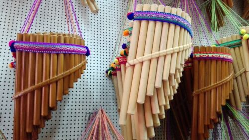 """Lot of 5 PAN FLUTE 13 PIPES beginners panpipes 12"""" Free shipping/We have store"""