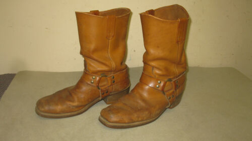 Vintage Leather boots Goodyear HH worn work ware 11 retro fashion tall style men