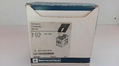 Telemecanique Contacteur de puissance Type: LC1D40008M5 2S + 2Ö, 60A/AC1, Bobine