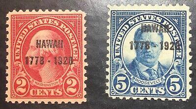 US Scott # 647 - 648 VF Mint NH CV $  28.75 / Price $ 11  **FREE** shipping !!