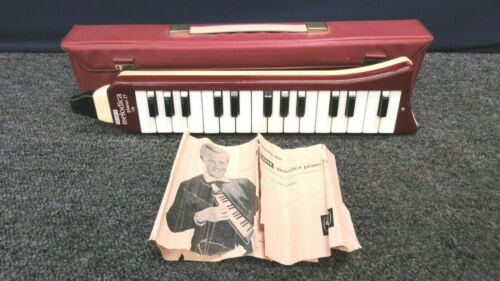 Hohner Melodica Piano 27 Mouth Instrument Germany Vintage Case Manual Working