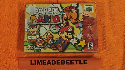 Paper Mario 64 (Nintendo 64, 2001) Complete in Box Authentic
