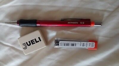 KOH-I-NOOR 5074 0.9 mm Mechanical Pencil + 0.9 Leads +Eraser Jueli
