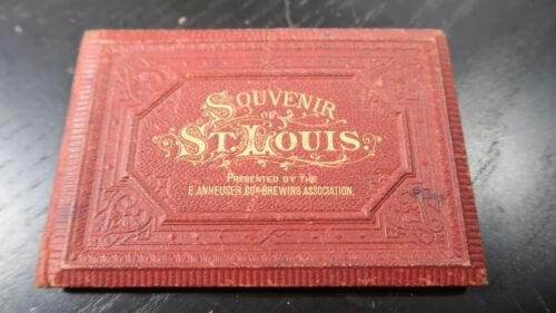 1879 Anheuser-Busch Brewery Book, St. Louis, Missouri  Souvenir of St. Louis