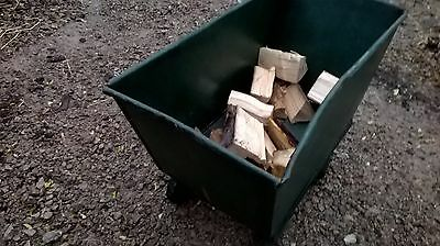 Fire Wood Wheeled Storage Barrow, FireWood Store, Antique Feed Barrow, Retro.