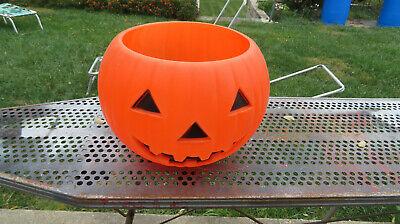 HUGE Union Products BLOW MOLD Halloween Vintage Jack O Lantern 1991 TREAT BOWL