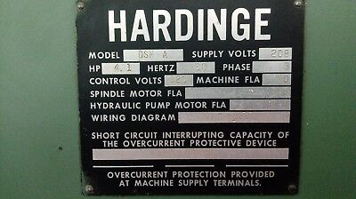 Hardinge Dsm Super Precision Lathe