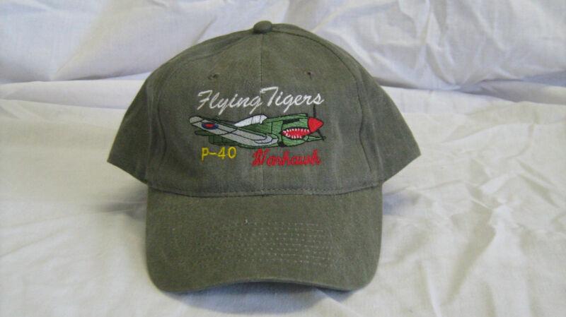 P-40 Warhwak Warbirds Airplane Embroidered Hat