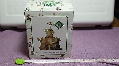 """CHARMING TAILS  """" FRIENDS ARE THERE WHEN YOU NEED SUPPORT """" LE, (DEAN GRIFF) NIB"""