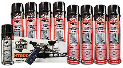Handi Foam Sealant - Gun Foam Combo Pack Ht500 Cleaner 8 24oz Cans Sealant