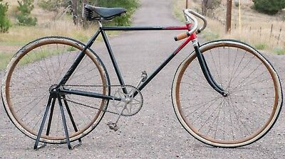 Vintage 1908 Iver Johnson Spec Roadster BIKE TOC Prewar Wood Wheel Track Bicycle (Used - 1980 USD)