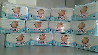 336 St (12 x 28 St) BabyTak  Babywindeln  Windeln Premium Flex NEWBORN 4kg Gr 1