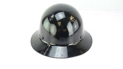 Msa Skullgard Full Brim Hard Hat With Fas-trac Suspension - Black