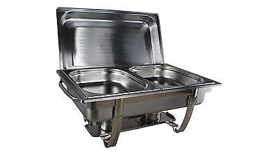 Chafing Dish Speisenwärmer Warmhaltebehälter 2x 1/2  GN Behälter