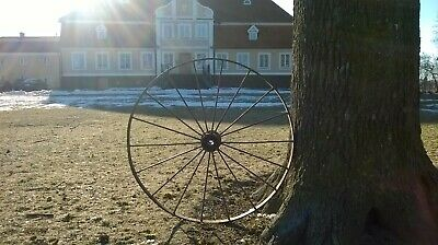 Antique v.old iron metal 18 Spoke Wagon Vintage Wheel 54 Inch Manor Horses wagon