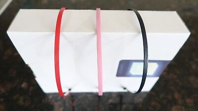 - US SELLER 3pcs Metal Headband covered with Leather Wrapped and Rubber Tips - NEW