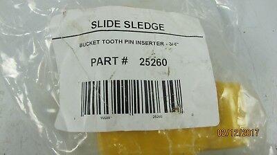 Slide Sledge Bucket Tooth Pin Inserter 34 Diameter 25260 - New