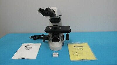 Nikon Eclipse 50i Binocular Compound Microscope With Rolling Hard Case