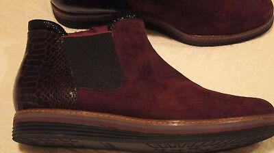 Tamaris Damen Schuhe Stiefel Stiefeletten Boots Rot / Weinrot  Gr. 41