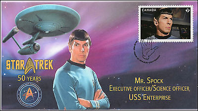 2016, Canada FDC, Star Trek, Mr Spock,  16-021