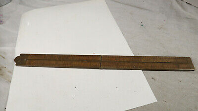 Stanley Rule and Level Co Ruler Boxwood No 62 Brass Bonded