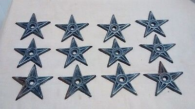 12 Cast Iron Stars  Architectual Stress Washer Texas Star Rustic Ranch sz. 2 7/8