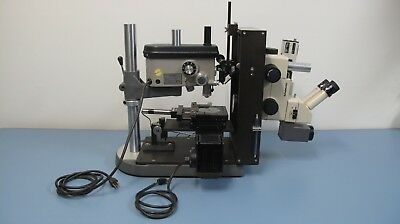 Precision Servo Drill Press System Servo Products With Olympus Szh Microscope