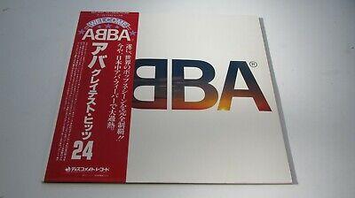 Abba ABBA'S GREATEST HITS 24 1980 Japanese 2nd Press DOUBLE LP W/OBI NEAR MINT