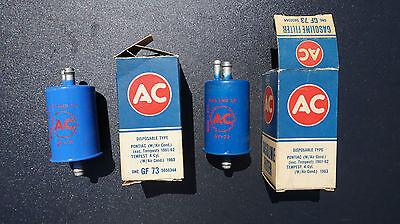 NOS AC GF73 Gas Fuel Filter 1961-67 Pontiac GTO Firebird Tempest w/ A/C 5650344