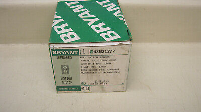 Bryant Msws1277 Infrared Wall Motion Switch Sensor 3w 120277vac 1200w 10a New