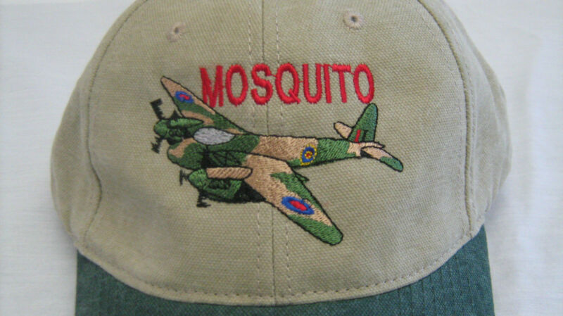 De Havilland Mosquito Warbirds Airplane Embroidered Hat British