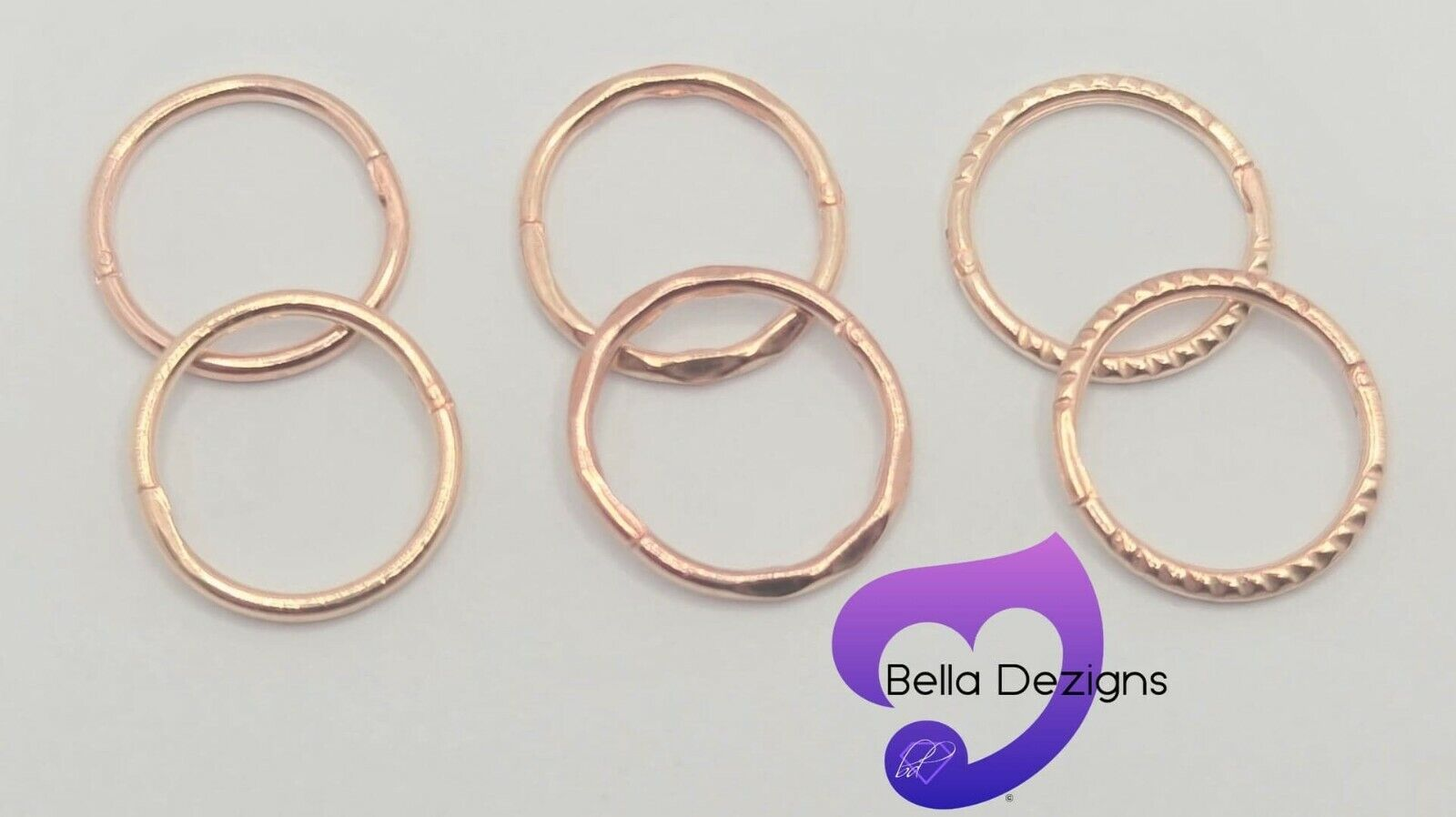 Jewellery - (12mm)18ct ROSE GOLD PLATEDon Solid Sterling Silver Sleeper Earring(MADE IN AUS)