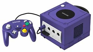 Nintendo GameCube with two controllers and 4 game