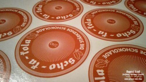 WW2 Scho-ka-kola sticker pair vintage schokakola design LATE WAR