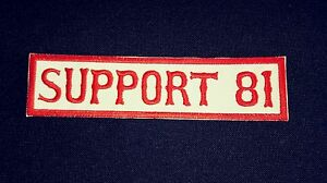 Support 81 Patch   eBay