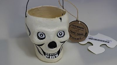 Cody Foster & Co. Paper Menagerie TWO small Skull buckets! Halloween. Recycled!