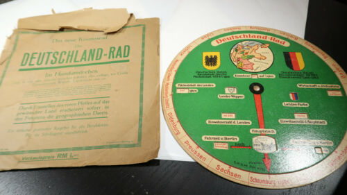 1920s 30s Deutschland-Rad Disc for Distance of German Cities