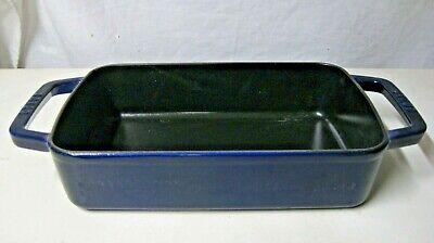 STAUB CAST IRON 12-INCH X 8-INCH ROASTING PAN - COBALT BLUE Cast Iron Roasting Pan