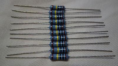 Koa Mf65d 1w Watt Metal Film Resistor 1m Ohm 1mohm 1 Megaohm Lot Of 10 Pieces 1