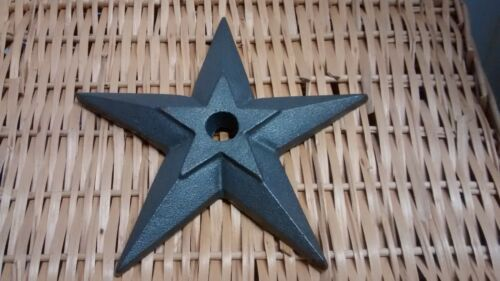 """1 Cast Iron Double Puffed Candle Star size 5 3/4"""" with a 7/8"""" hole"""